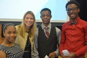 PESA President Leslie Beyer with EIHS students