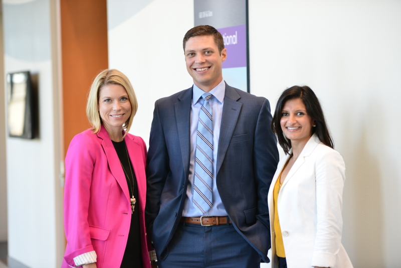 PESA President Leslie Beyer, Emerging Leaders Committee Chairman Dave Martin, Halliburton, and Emerging Leaders Committee Member Jigna Bhakta, GE Oil & Gas