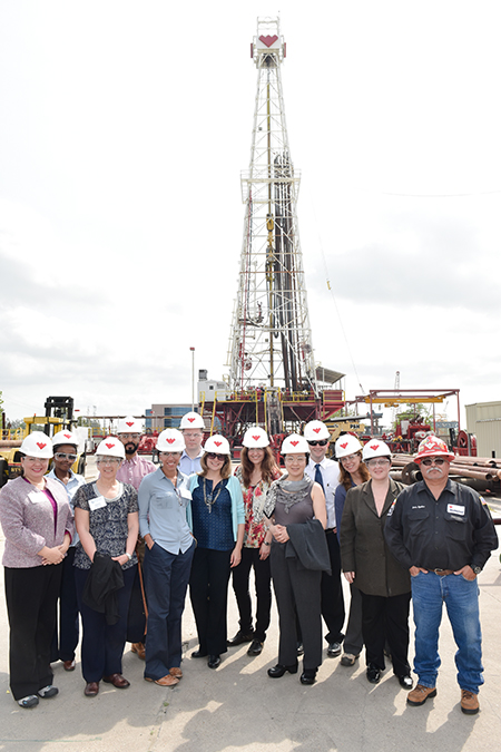 FSO's received a tour of Weatherford's training rig.