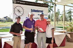Explorers of Houston Golf Tournament 1st place team: