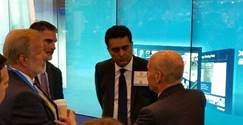 Brazil delegation meets with PESA Advisory Board Member Jeff Boettiger, NAM Industry Affairs Manager and Anil Swani, Global Account Director at the Schlumberger booth at OTC