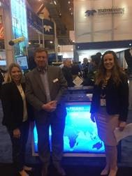 PESA Advisory Board Member Mike Read, President, Teledyne Marine, PESA President, Leslie Beyer and Molly Smart, VP Communications & Member Relations