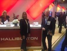 PESA Board Member Galen Cobb, Vice President-Industry Relations, Halliburton and PESA President, Leslie Beyer