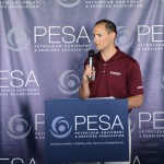 Ronnie Kott address the crowd at the PESA Executive Address