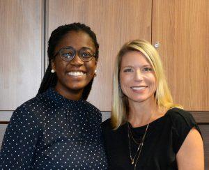Pamela Ekechukwu and PESA President Leslie Beyer