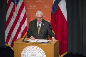 U.S. Secretary of State Rex Tillerson spoke on the campus of The University of Texas at Austin today (Feb.1) as part of his tour of the Western Hemisphere. In his speech at UT Austin, he outlined his policy priorities for the region and took questions from the audience. (Photo by The University of Texas at Austin).