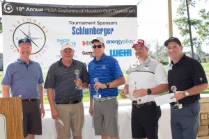 Explorers of Houston Golf Tournament 1st Place Team: Keith Barnard, Forum Energy Technologies; Stuart Spears, MRC Global, Greg Peterson, MRC Global, and Lance Lorance, MRC Global