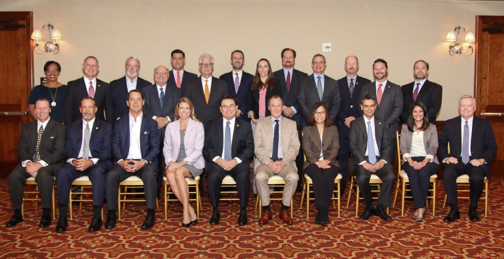 LEFT to RIGHT, FRONT TO BACK: Mark Wolf, TechnipFMC; Burk Ellison, DistributionNOW; Donald Young, Hoover Ferguson; Leslie Beyer, PESA; Dan Domeracki, Schlumberger; Richard Alabaster, TechnipFMC; Hope Anderson, NOV; Sanjiv Shah, Simmons and Company International; Jigna Bhakta, GE Digital; Galen Cobb, Halliburton; Angela Knight, Baker Hughes, a GE company; Rod Larson, Oceaneering; Pat Bond, Gravity Oilfield Services; Wayne Richards, GR Energy Services; Alex Cestero, Frank's International; Doug Polk, Vallourec; Scott Livingston, NOV Completion and Product Solutions; Lindsy Sallee, NOV; John Candler; Schlumberger (M-I SWACO); Dave Warren, Energy Alloys; Chuck Chauviere, Baker Hughes, a GE company; Josh Lowrey, Galtway Marketing; Loren Boisvert, Stream-Flo.
