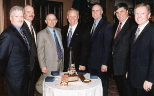 Galen Cobb (far right) at the 2002 PESA Annual Meeting