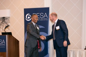 PESA Board Member Chuck Chauviere, Baker Hughes, a GE company, and Reggie Hedgebeth, Marathon Oil