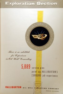 Halliburton 1950s Ad in World Oil
