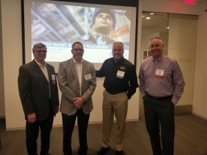 Mitchell Kemp, Director-HSE, Gulf Region, Cummins Sales & Service; Rae Rotter, Senior HSE Manager, Stream-Flo USA; Jeff Felker, Senior Vice President, Sales, Ringers Gloves; Charles Easter, Fleet Safety Manager – US & Canada Geozone-QHSE, Weatherford