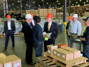 Rep. Brian Babin (R-TX-36) toured DistributionNOW