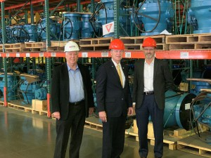 LEFT to RIGHT: Jim Owsley, Vice President, Supply Chain, DistributionNOW; Rep. Babin; Scott Hauck, President, Energy Centers, DistributionNOW.