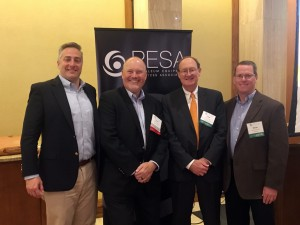 LEFT to RIGHT: Tim Tarpley, PESA; David Christmas, Schlumberger; Fred Charlton, Simmons Energy; Steve Hassmann, Chevron
