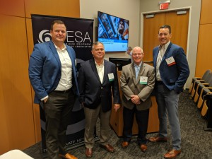 LEFT to RIGHT: Doug Dunlap, Basic Energy Services; Ryan Bishop, Houston Sales Consultants; Mark Lapeyrouse, NOV; CID Operating Committee Member Jason Leslie, NOV.