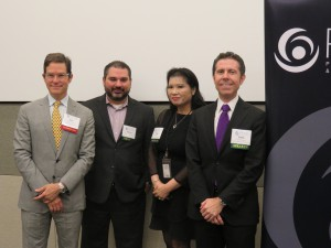 LEFT to RIGHT: Dan Connelly, Baker Hughes; Carlos Tamez, Fugro; Grace Han, Baker Hughes; and Carlo Cotrone, Baker Hughes