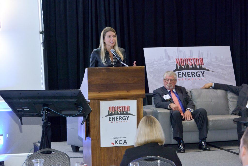 Council CEO Leslie Beyer at the Houston Energy Breakfast